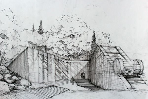 modern architectural sketches. Simple Architectural Some Of My Concepts Moder Architecture And Some Sketches Existing  Buildings  For Modern Architectural Sketches
