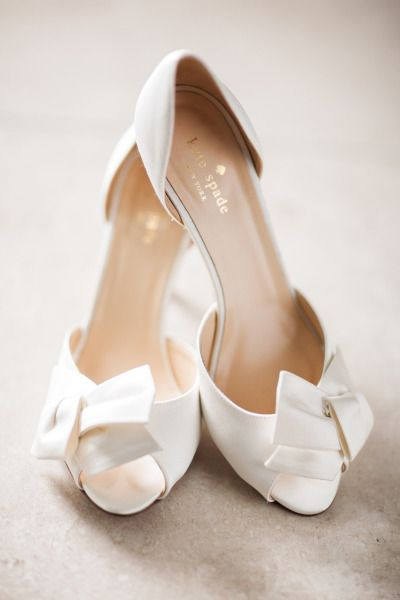 White satin wedding shoes  http   www.stylemepretty.com 2015