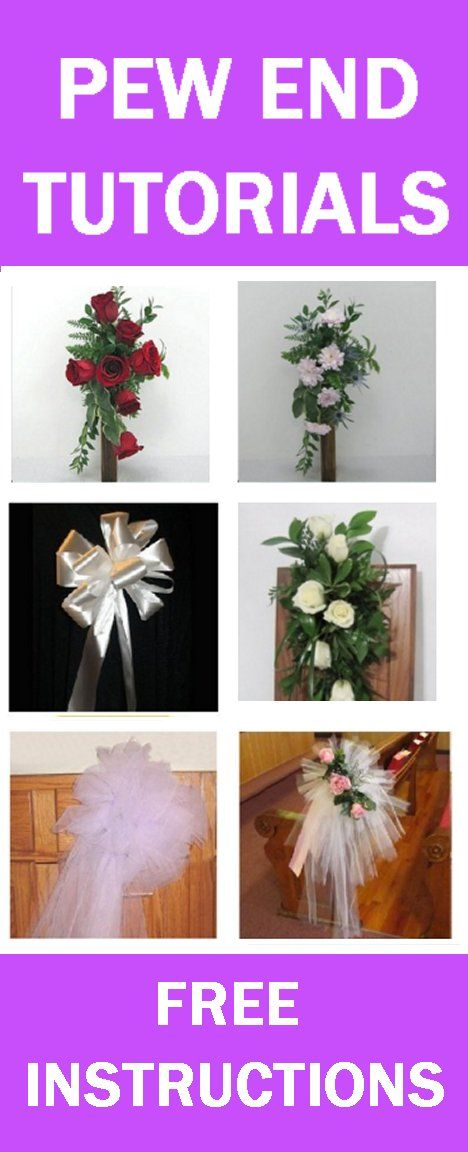 Wedding Pew Decorations Easy Step By Step Free Flower Tutorials