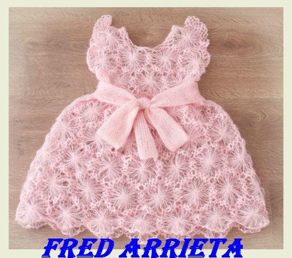Vestidos tejidos crochet para niñas - Imagui