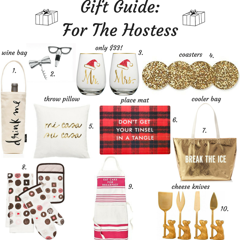 Sharing a gift guide on the blog for the hostess. They are definitely deserving of a gift since they do so much to prepare for Christmas!