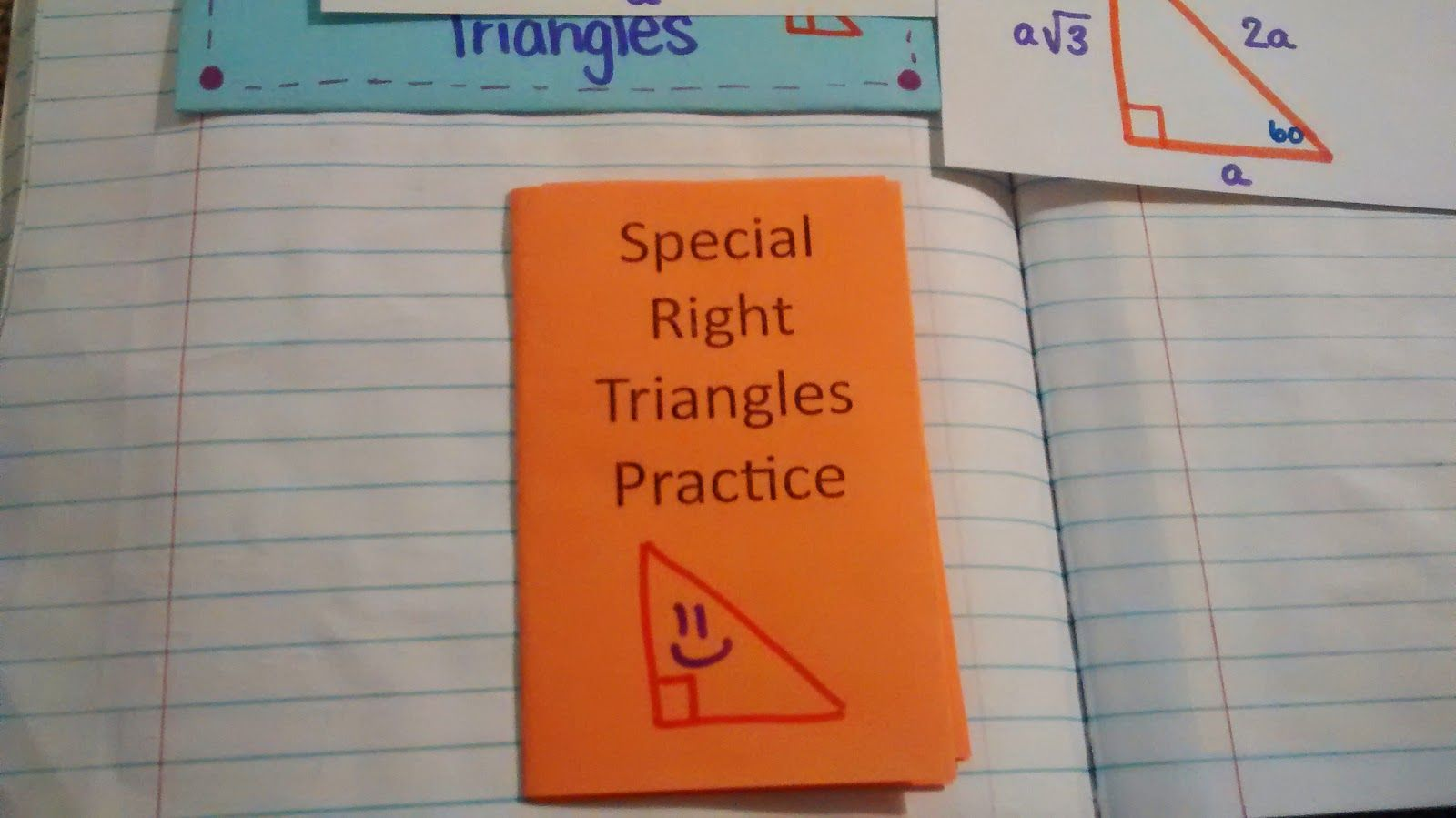 Special Right Triangles Practice Booklet