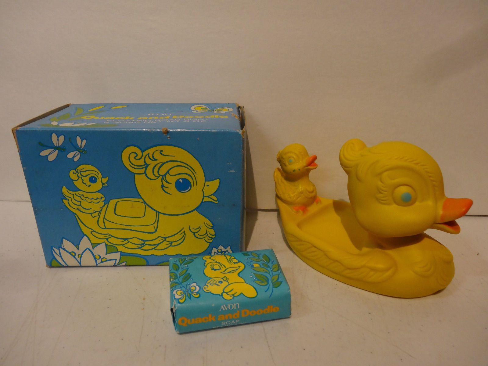 Vintage Rubber Duck Avon Quack and Doodle Floating Soap Dish Soap ...