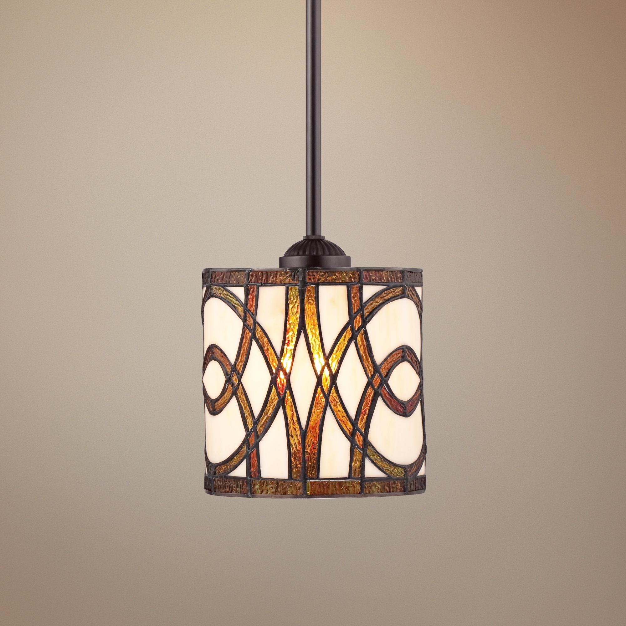tiffany style pendant light. Art Glass Circles Tiffany Style Mini Pendant Light