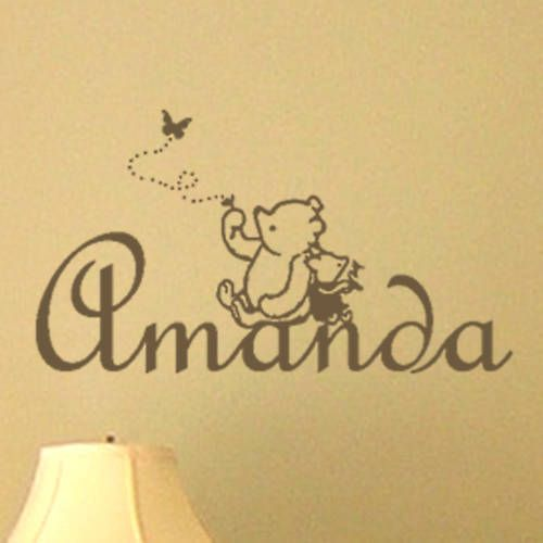 Classic Winnie the Pooh & Piglet PERSONALIZED Vinyl Wall Decal ...
