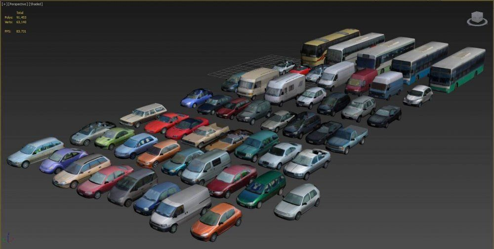Low Poly Vehicles 3d Model For Download Cgsouq Com 3d Model Low Poly Car 3d Model