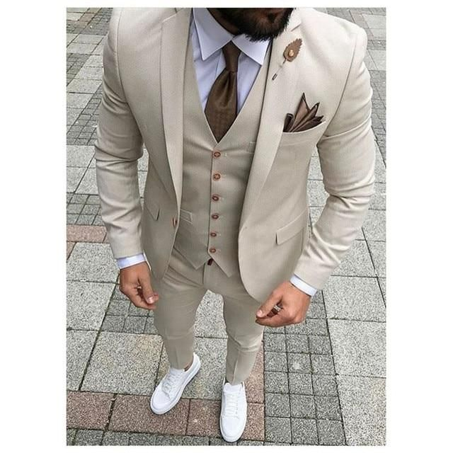 Mens Suit3pieces (Jacket+Pants+vest) anzug Herren Ternos Para Hombre Terno Masculino Slim Fit Blazerzer #men'ssuits