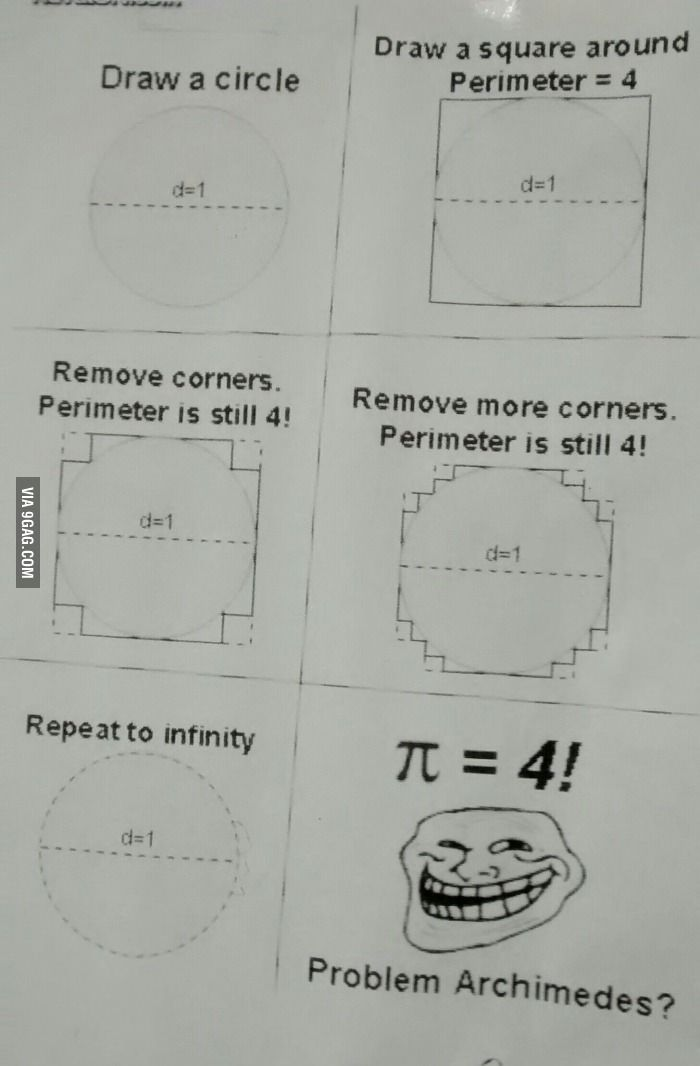 Spotted on the wall of my classroom. Math trolling