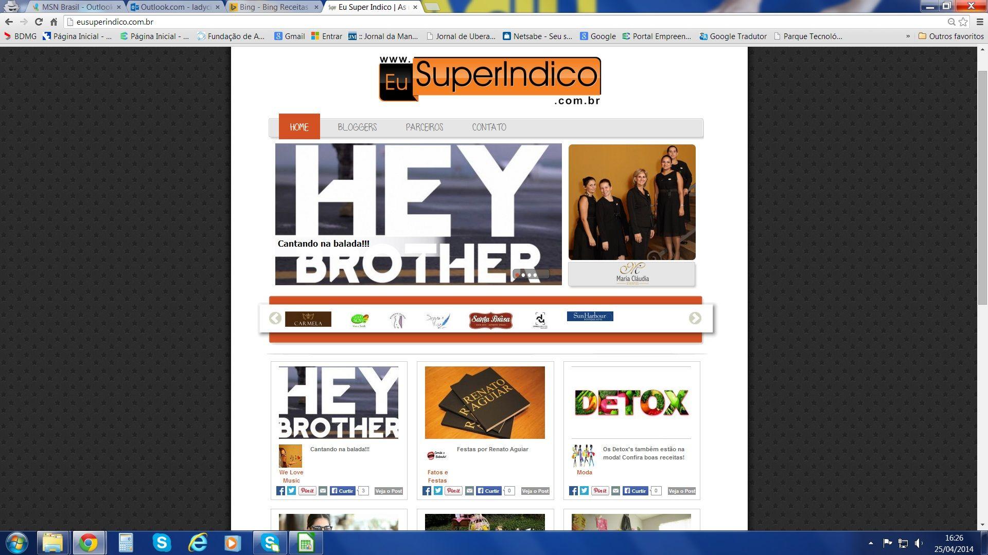 Já viu no site? www.eusuperindico.com.br