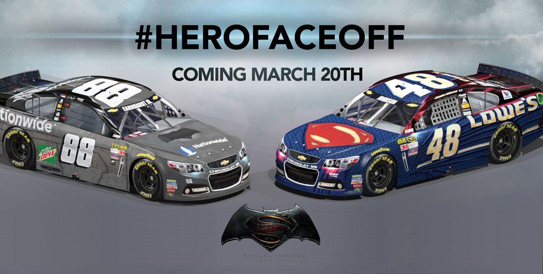 DC COMICS NEWS • 'Batman v Superman' Takeover NASCAR!