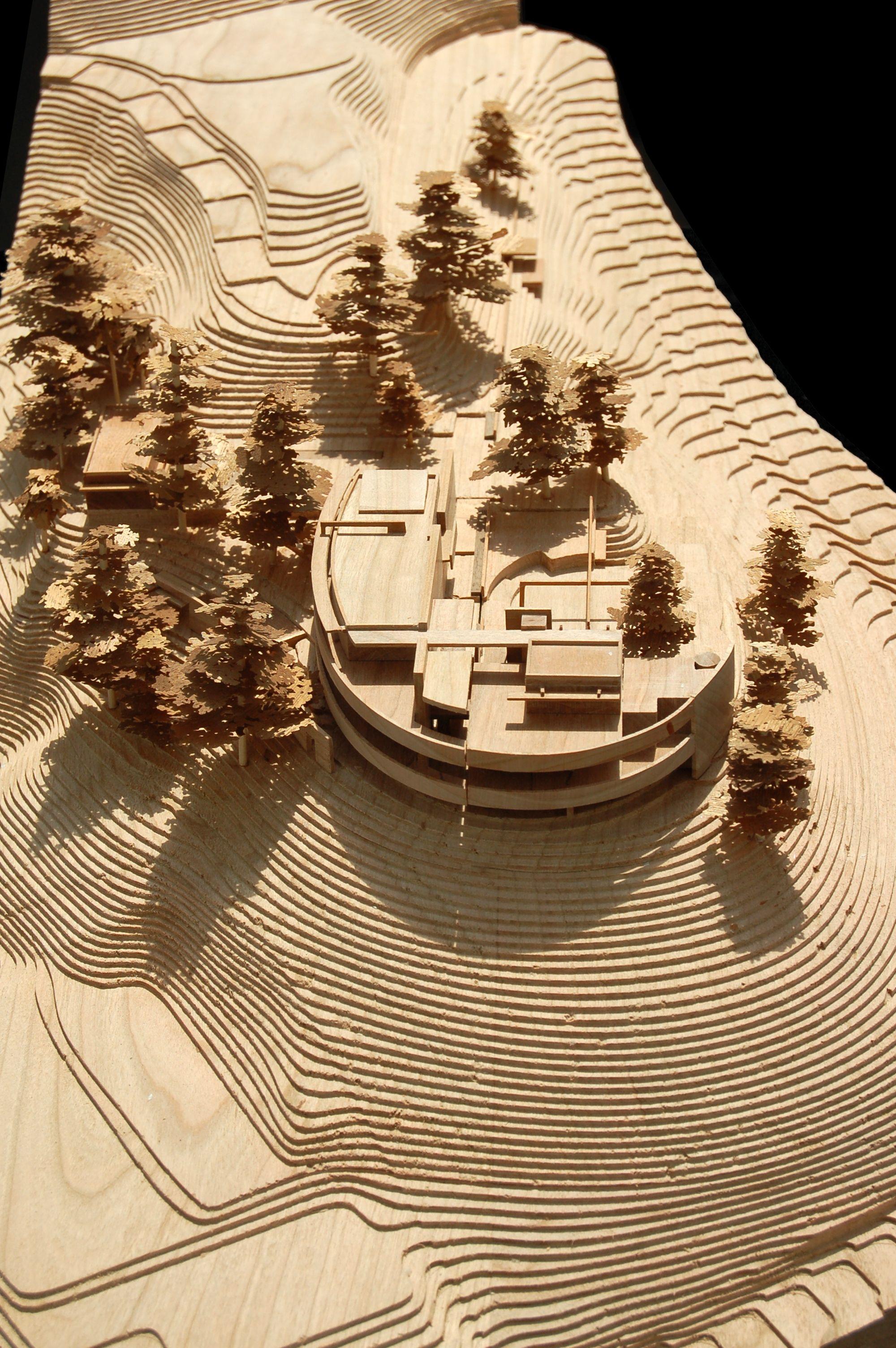 Laser Cut Architecture Model Tom De Marrom Interessante