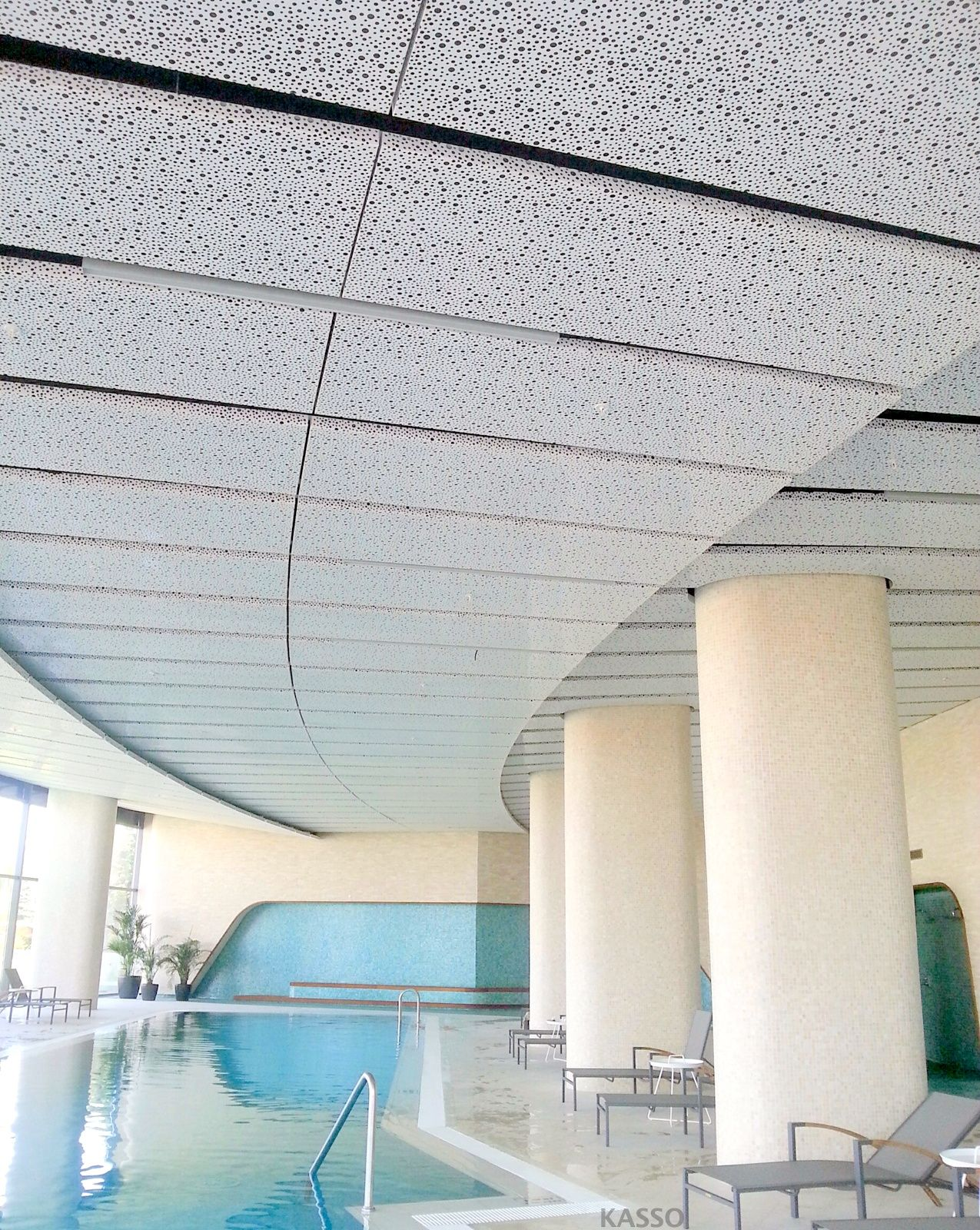 Random Perforated Metal Ceiling // Rixos Bademlik/ Eskiehir -TURKEY //  KASSO Engineering