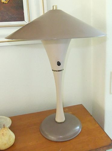 Vintage Metal Table Lamp Mid Century Modern All Original And Works