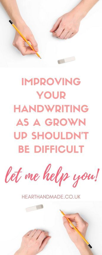 Improve Your Handwriting Skills For Adults! Plus free handwriting worksheets printables. http://www.hearthandmade.co.uk/improve-your-handwriting/?utm_campaign=coschedule&utm_source=pinterest&utm_medium=Heart%20Handmade%20UK&utm_content=A%20Guide%20To%20Improve%20Your%20Handwriting%20Skills%20For%20Adults%21