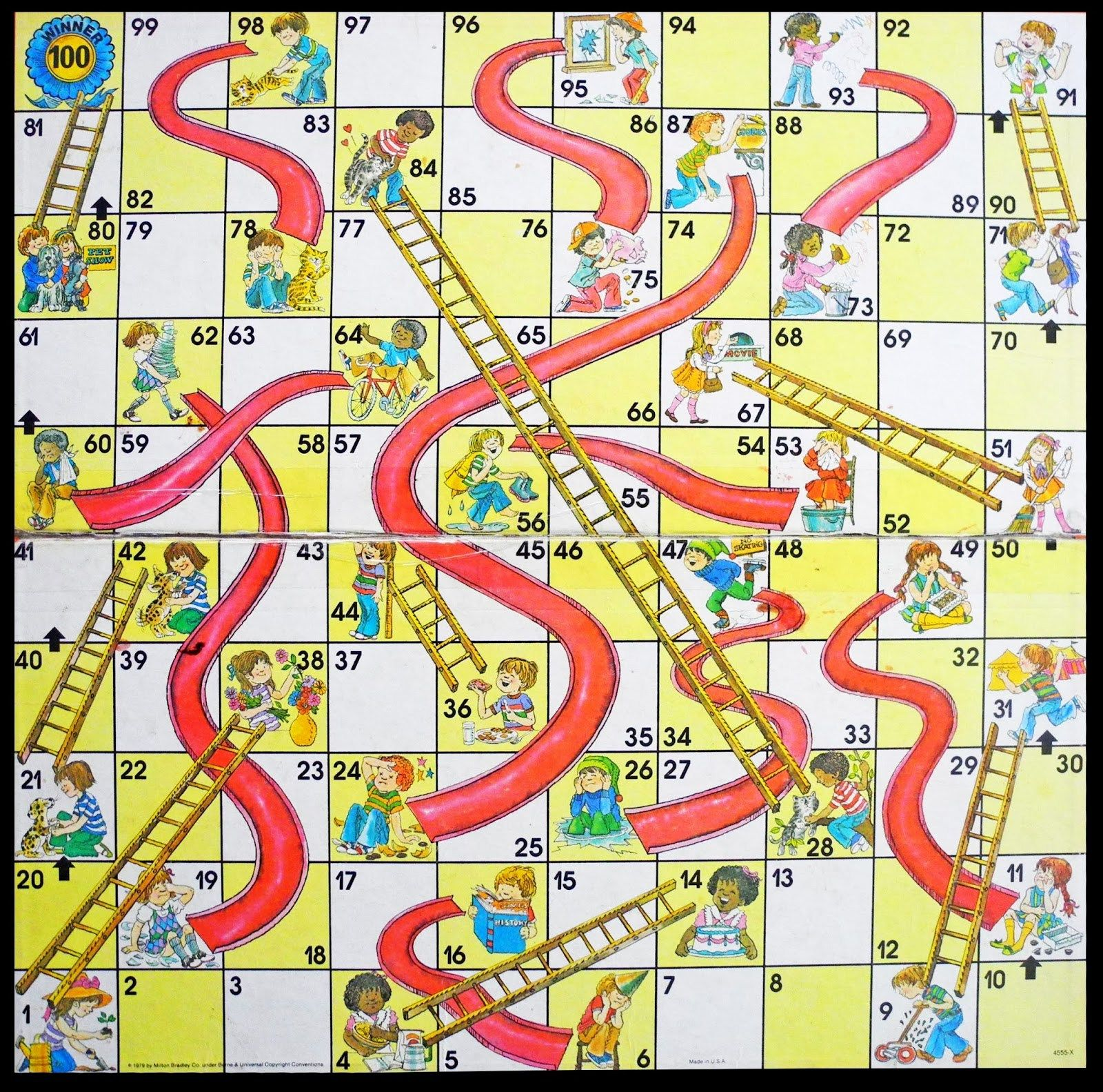 Free Coloring Pages Of Snakes And Ladders