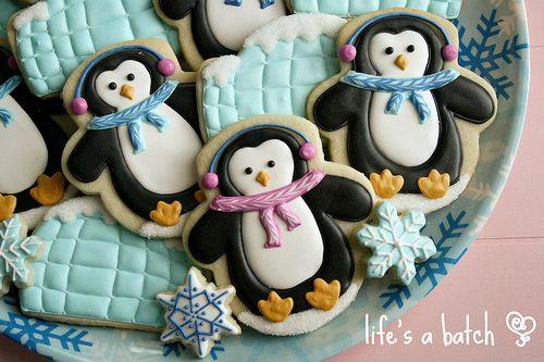 Penguin Igloo Cookies Christmas Holiday Winter Cookies