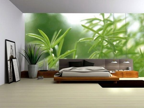 No Bhd133 Bedroom Decorating Ideas With Modern Digital Wallpaper Picture