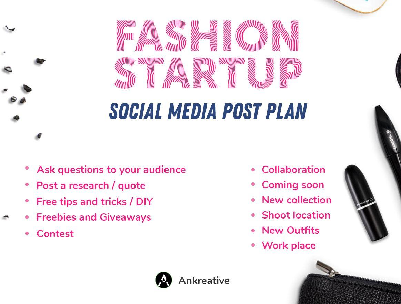 Social Media Post Strategy And Plan For Fashion Startups Make Up Artist Fashion Designer For Quick Smm Graphic Design Ads Social Media Post Startup Fashion