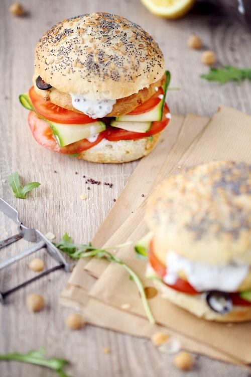 Hamburgers végétariens aux galettes de pois chiche