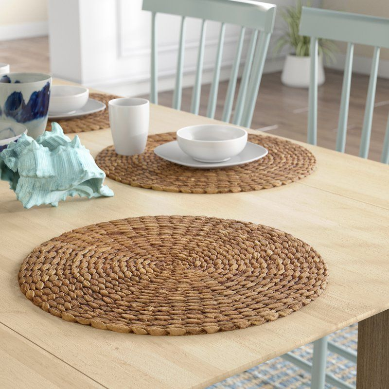 Radburn Round Sea Grass Placemat Placemats Water Hyacinth Modern Tableware