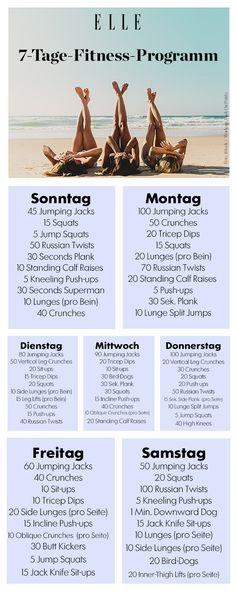 Fitnessprogramm In 7 Tagen Zur Traumfigur Fitness Traumfigur Gutes Training