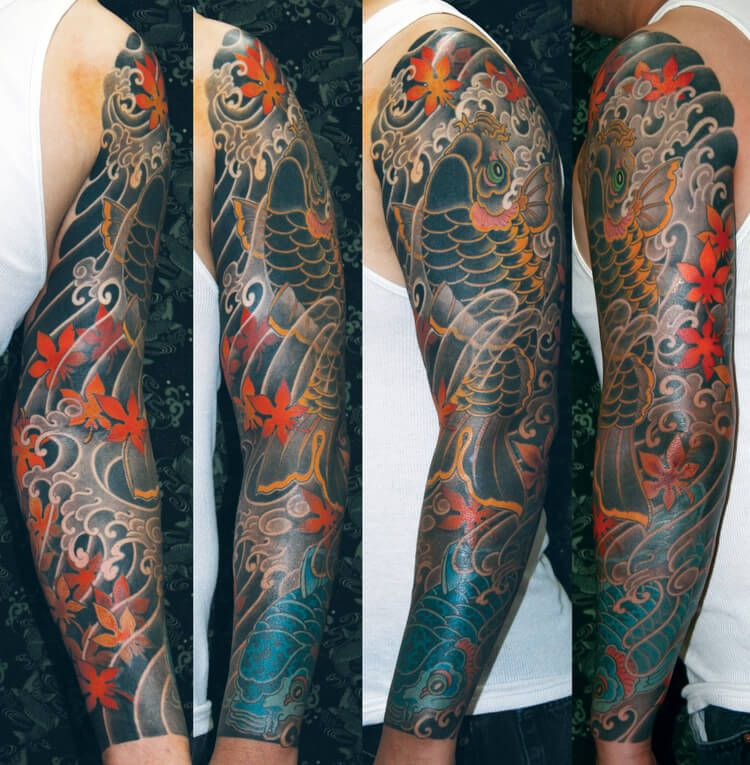 42 Mind Blowing Koi Tattoo Designs Examples: Christopher D Brand's Artwork Is A Hallucinogenic Trip