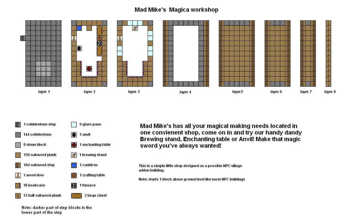 Mad Mikes Magica Shop Minecraft Floorplan By Coltcoyote Deviantart Com On  Deviantart