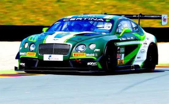 Pepper On The Pace At Sachsenring Sportscar Racing News Racing News Bentley Continental Sportscar