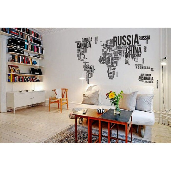 For office room dcor paste water proof world map stickers for office room dcor paste water proof world map stickers gumiabroncs Choice Image
