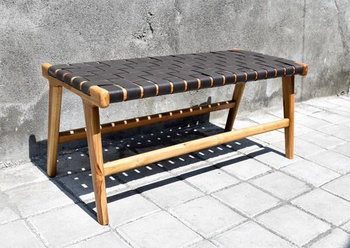 Woven Leather Strap Bench Genuine Leather Strips For Diy