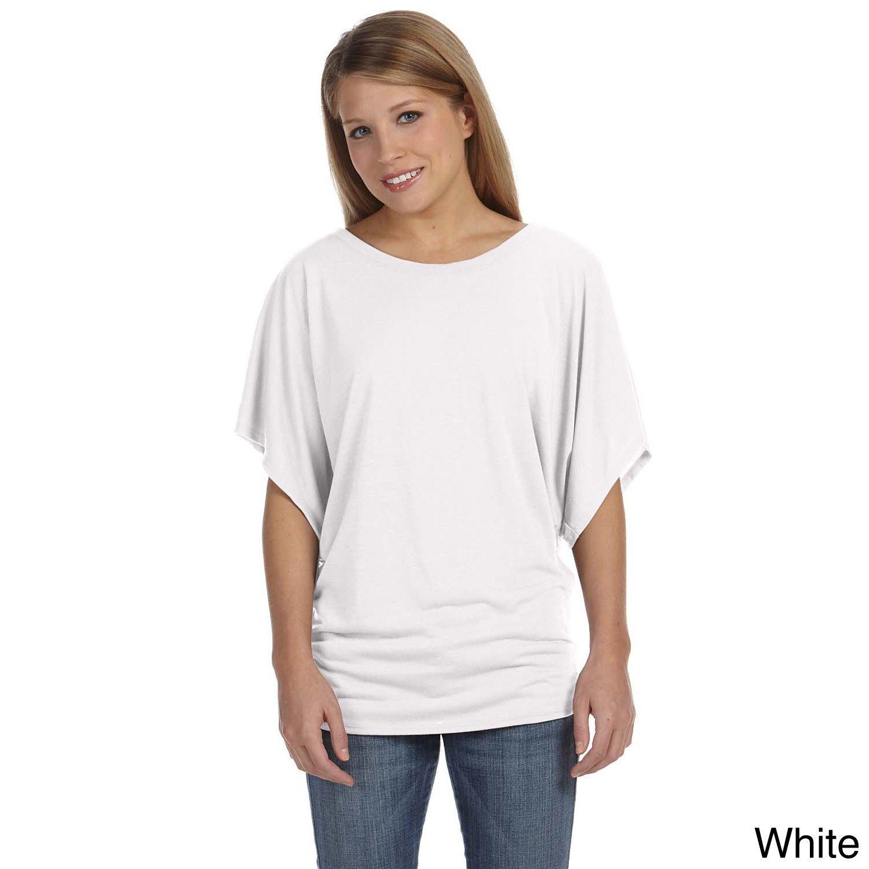 fa054e06e Bella Women's Draped-sleeve Dolman T-shirt | Products | Work shirts, Shirts,  Sleeves