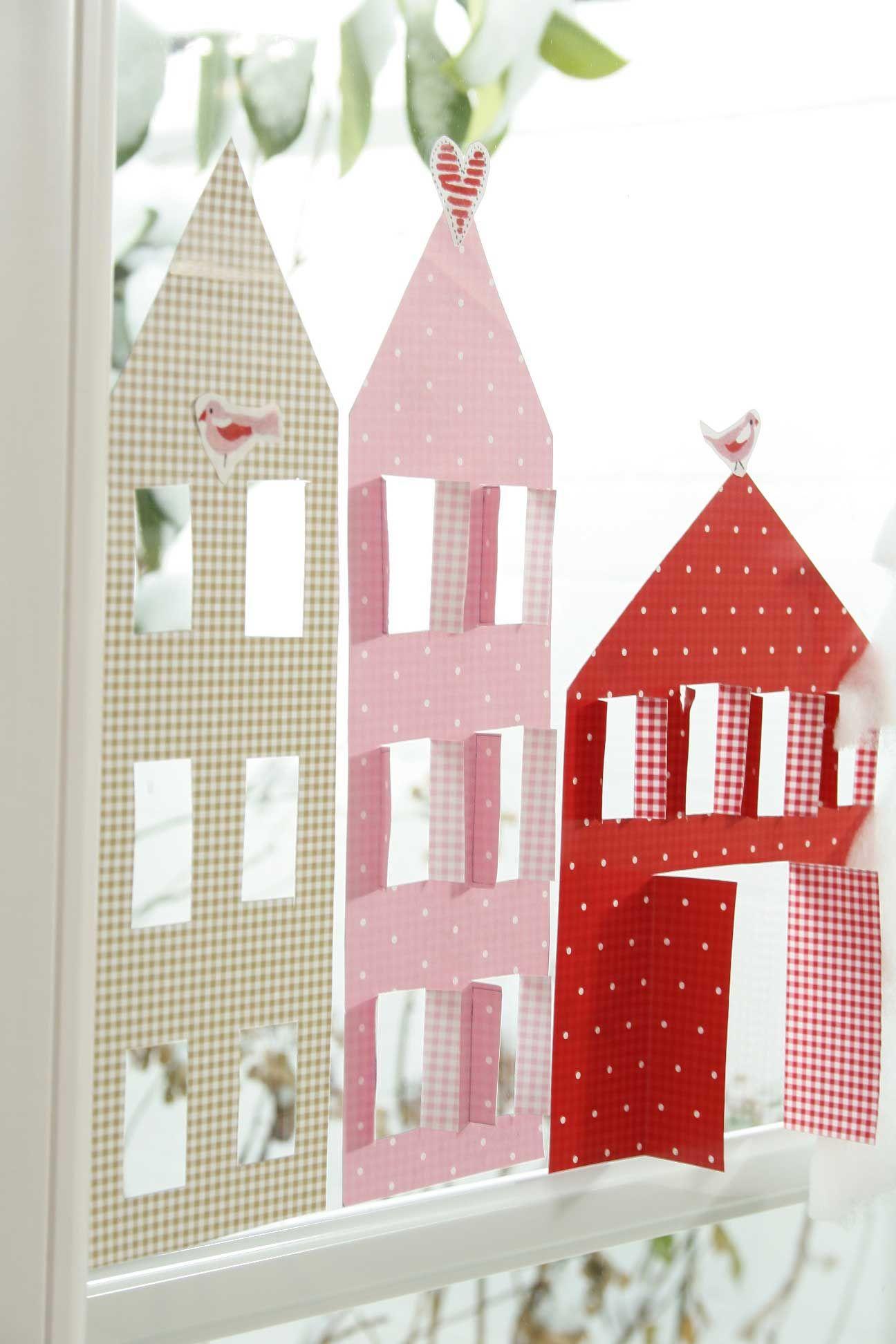Diy dezember teil 1 ideen aus papier basteln - Fensterdeko fur weihnachten ...