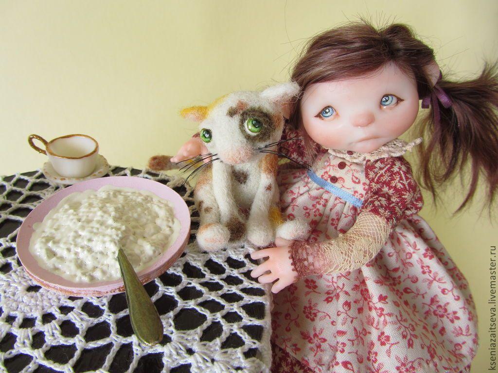 """Купить """"Ася"""" - коллекционная кукла, авторская кукла, куклы ксении зайцевой…"""