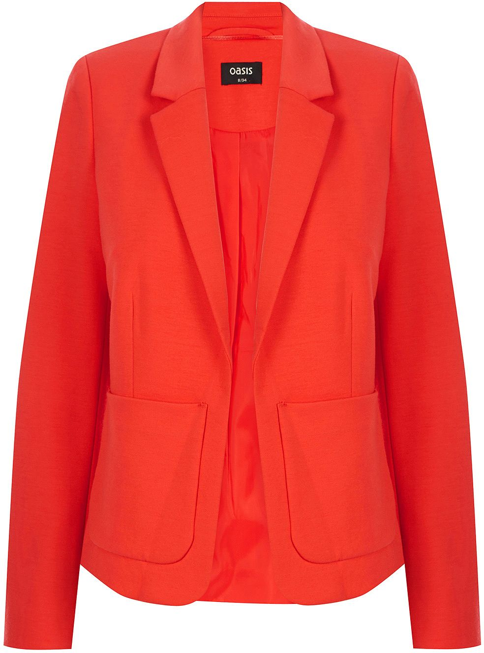 56090e92893a CROP PONTE JACKET | Orange | Oasis Stores Summer Colors, Oasis Uk, Fashion  Clothes