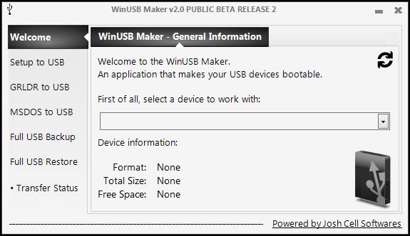 WinUSB Maker standard discontinued. - Josh Cell Softwares | Computer