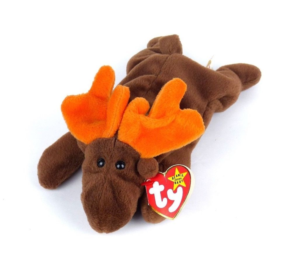 003fdb4107a RARE Chocolate The Moose TY Beanie Baby 1993 PVC 4015 Retired Poem Error  4 3 Gen  Ty