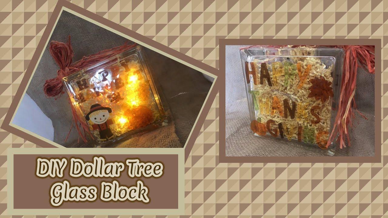Diy Dollar Tree Glass Block Youtube Glass Blocks Glass Block