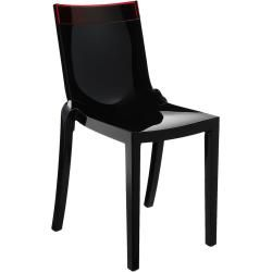 Photo of Kartell Hi-Cut 5850 black, upper part orange (transparent) Kartell