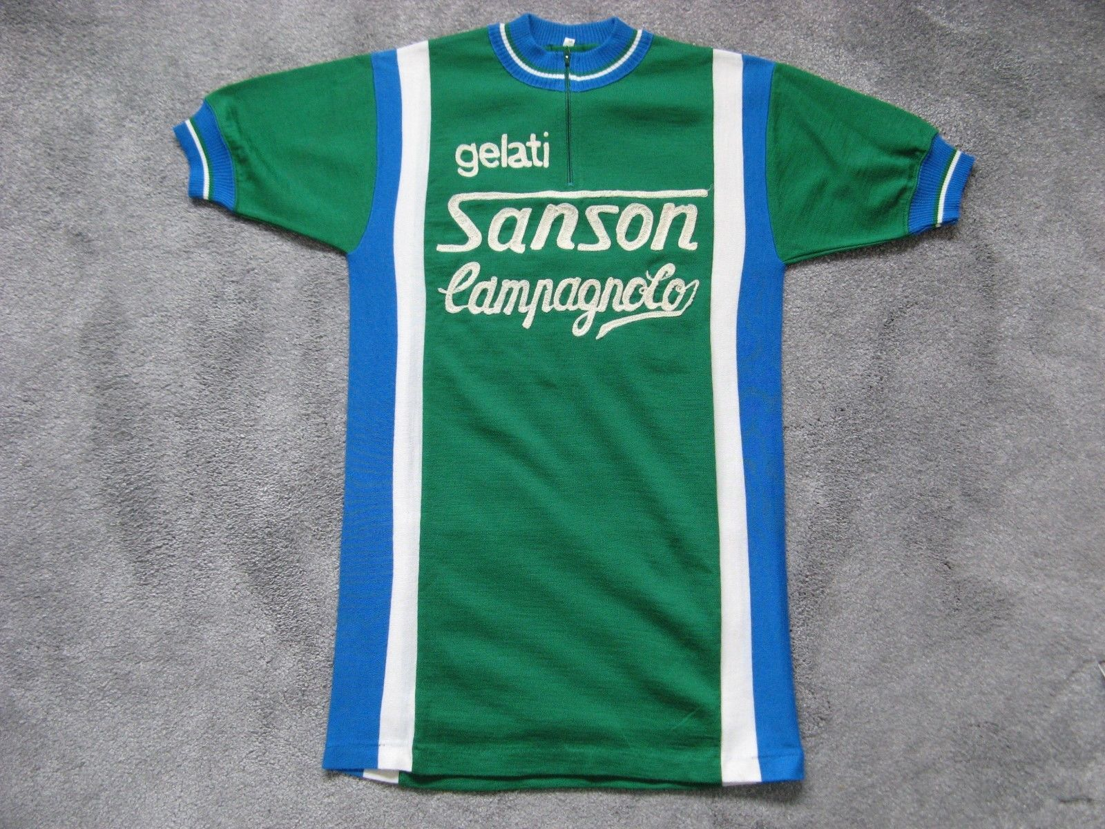 GELATI SANSON CAMPAGNOLO VINTAGE CYCLING JERSEY MAILLOT MOSER MAGLIA  L`EROICA  13eea8a76