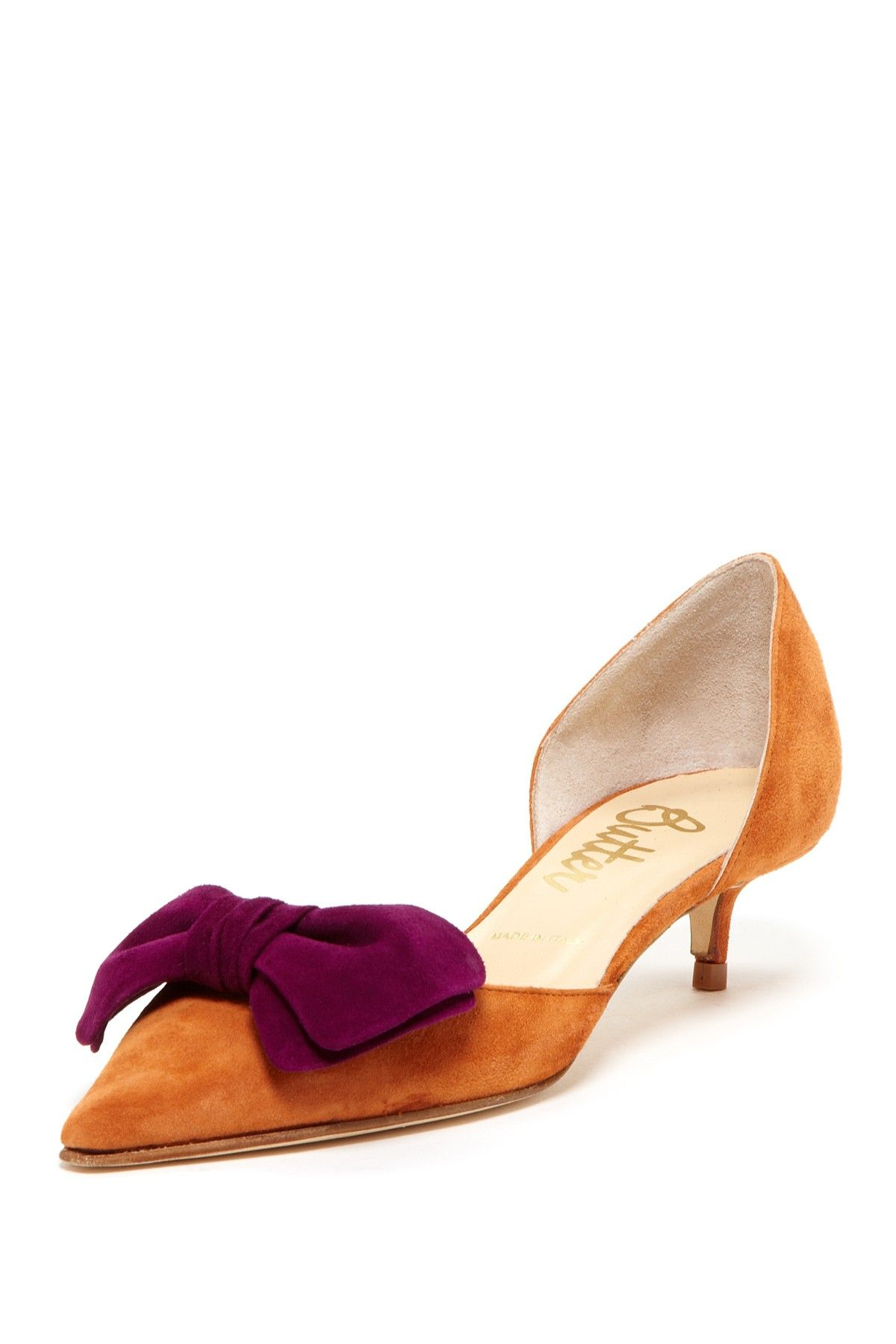 7f7bb0c8ea4 omgoodness..these are sooo cute! .. Butter Peachy Pointed-toe Dorsay Kitten  Heel