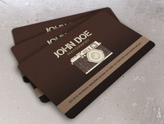 Vintage Photography Business Card Business Card Inspiration - Photography business card template photoshop