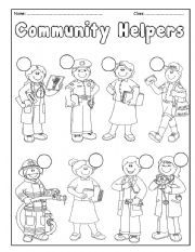 english worksheet community helpers