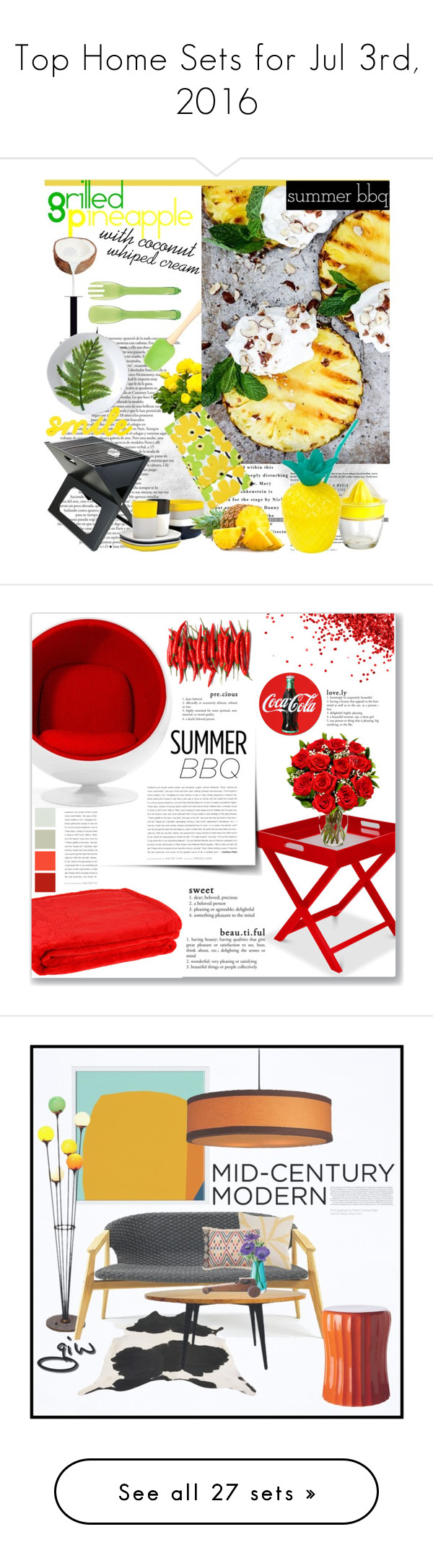 """""""Top Home Sets for Jul 3rd, 2016"""" by polyvore ❤ liked on Polyvore featuring interior, interiors, interior design, home, home decor, interior decorating, Cooks Tools, Jayson Home, Prepara and Picnic Time"""