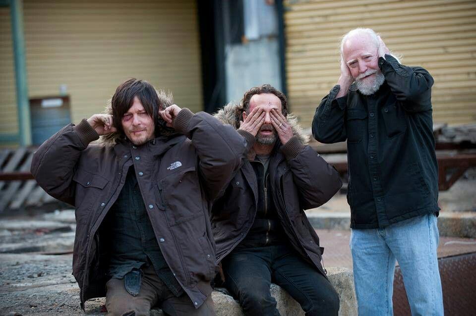 Walking Dead. ..hear no evil, see no evill, hear no evil