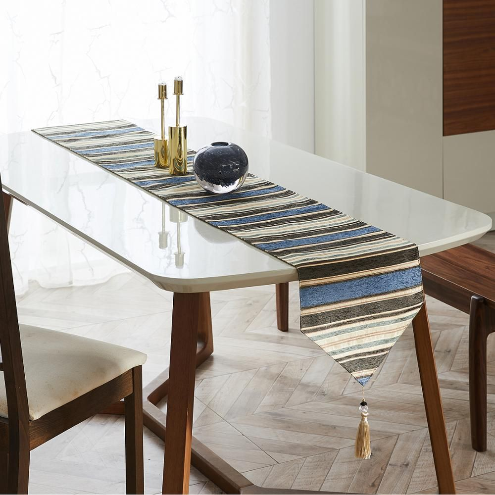 Table Runners Colorful Stripes With Tassels In 2020 Dining Decor