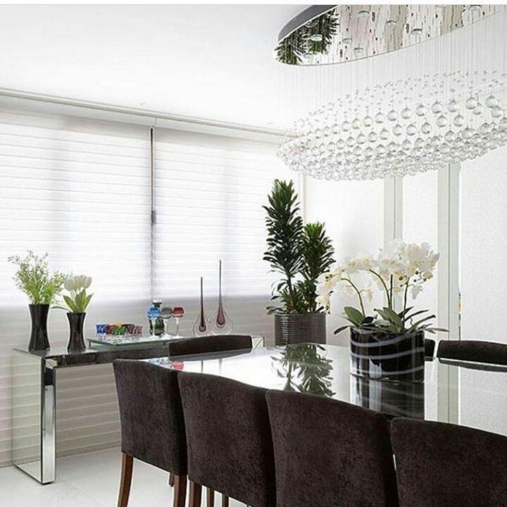 Ambiente belíssimo em Black and White! ❤ por moniserosa 👉vendo ...