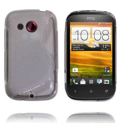 Läpikuultava S-Line (Harmaa) HTC Desire C Suojakuori