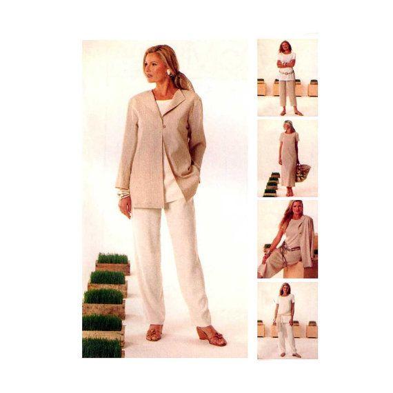 Unlined Jacket, Tunic, Dress, Pants McCall\'s 4093 Misses\' / Petite ...