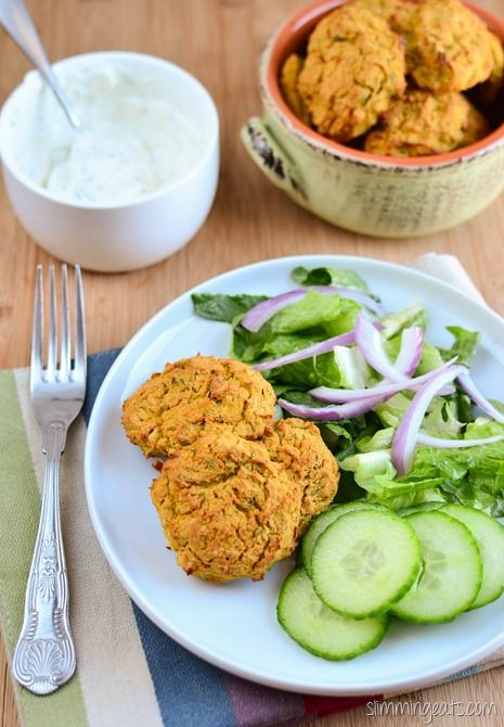 Slimming Eats Oven Baked Falafel - Gluten Free, Dairy Free, Vegetarian, Slimming World and Weight Watchers friendly