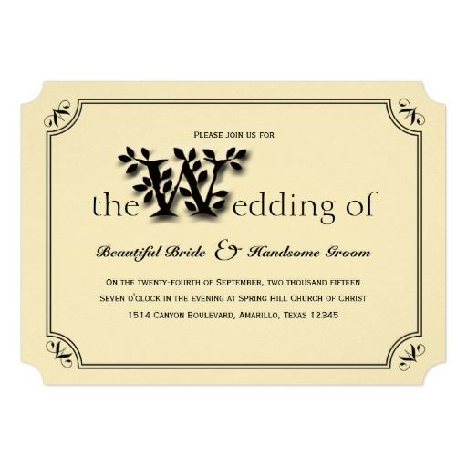 "Oak Arbor Reception: ""Love, True Love"" Tree And Leaf Wedding Invitation"